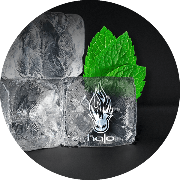 Halo Flame Logo Carved into Ice Cubes
